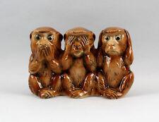 Drei Affen der Weisheit Nikko Wagner & Apel Porzellan Figur 20x9x14cm 9942409