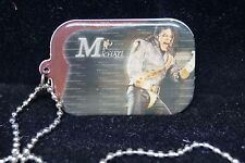MICHAEL JACKSON HISTORY TOUR DOUBLE-SIDED DOG TAG NEW