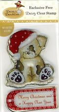 Daisy & Dandelion -Clear Stamp - Bear with Christmas Cap & 'Happy Christmas &c`