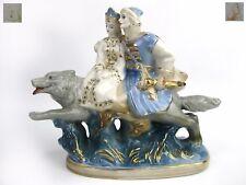 Ivan Tsarevich on Gray Wolf Gzhel Porcelain Figurine Soviet Russian USSR 50s