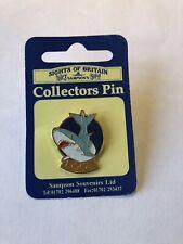 Vintage Cornwall /Looe England Souvenir Shark Lapel Pin