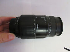 objectif SIGMA 70-300 ; 1:4-5.6D ; DL macro ; Lens made in Japan ; for nikon