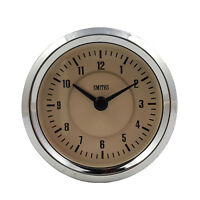 Smiths Time Clock Gauge 60mm in Magnolia & Chrome For Classic Cars GAE128/60MG