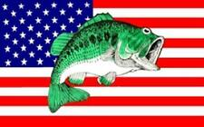 American Usa Bass Fish 3X5 Flag Fl691 3 X 5 hanging polyester flags fishing