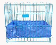 Cushioned Borders for Pet Crates HEARTS BLUE