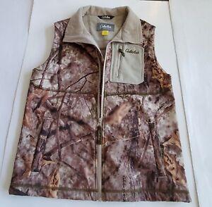 Cabela's Womens Large ZonZ Camo Hunting Outdoor Soft Shell/Fleece Vest 31-102