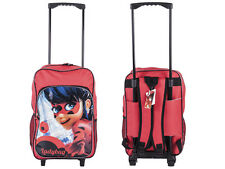 Kids Disney Miraculous Wheeled School Travel Trolley Backpack Bag