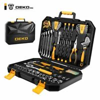 DEKOPRO 128 Pieces Tool Set General Household Hand Tool Kit Auto Repair Tool Set