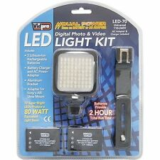 Vidpro LED-70 Camcorder DSLR Light Kit New - Factory Sealed
