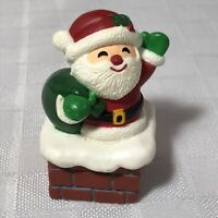 Santa In Chimney Mini Hallmark 1984 Hong Kong Vintage