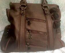 83318576cd5c Christian Audilier Zee Zee Top Zeeta Tote Bronze Hobo Bag Crossbody ExLarge  HTF!