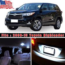 18PCS White LED Bulb Interior Light Package Kit For 2008-2015 Toyota Highlander