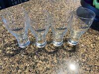 4 Absente Absinthe Liqueur Clear Glasses