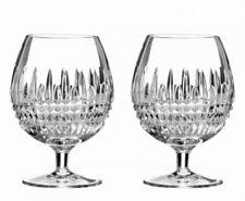 NEW Waterford (2) LISMORE DIAMOND BRANDY GLASSES Snifters COGNAC # 161006 - NIB