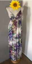 Topshop Floral Party Race Cruise Flower Evening Wedding Guest Maxi Dress 12 10 M