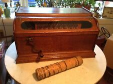 "Circa 1900 Grand Roller Organ 32 Note Music Box w/Music Cob (13 1/4"")"