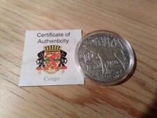 Kongo 1000 Francs 2015 Antique Finish - Okapi - Silber 1oz - Africa Ounce