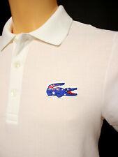 Lacoste Small BNWT Mens Australia Flag Limited Edition White Polo Shirt Sz 3/S