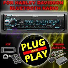 FOR 98-2013 HARLEY DAVIDSON TOURING PLUG PLAY KEMWOOD CD AUX RADIO STEREO KIT