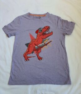 Kids Unisex T-Shirt Dinosaurs Lilac Age 14 Tu