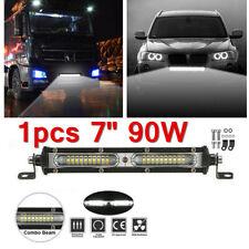 Slim 90W 7inch Led Work Light Bar Flood Spot Combo Driving Lamp Truck Trailer