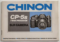 Bedienungsanleitung Chinon CP-5s Twin Program SLR Camera Instructions