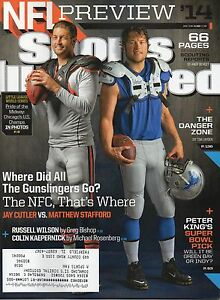 NFL Preview Issue SPORTS ILLUSTRATED 9/1/14 JAY CUTLER & STAFFORD Bears LIONS