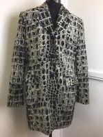 Nathalie Chaize Paris Designer Jacket Black & White Cotton Velvet Short Coat 10