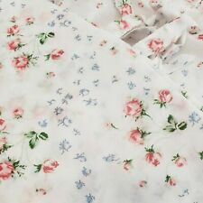 """Ikea Emmie Knopp Shabby Chic Floral Roses Tab Panel Curtains 57 x 107""""  Set of 2"""