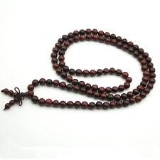 8mm African Sandalwood Wood Tibet Buddhist 108 Prayer Beads Mala Necklace