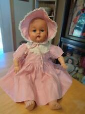 "Vintage Stuffed Vinyl/Oil Cloth Effanbee Doll~DARKENED SKIN TONE~22""~"