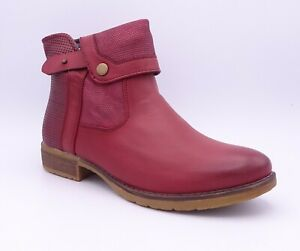 Romika Wendy 01 Women's Red Bordo Flat Ankle Boots Size UK 5 EUR 38