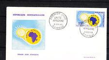 Centrafrique  enveloppe 1er jour  unité Africaine     1963