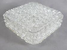 ERCO GLAS DECKENLAMPE DECKENLEUCHTE WANDLAMPE 2 x 60 WATT E27 70er JAHRE