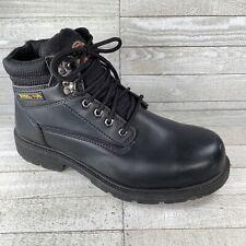 BRAHMA Black Leather Steel Toe Work Boots Men's Size 12 W