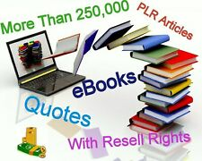 nearly 300,000 eBooks Plr Articles Quotes Resell Rights free ship 3Gb word pdf