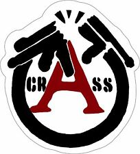 11038 Crass Black White Red Logo Anarchy Punk Rock Music Band Sticker / Decal