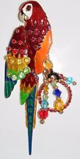 Stunning - LATR Lunch at The Ritz 2GO Mango Macaw Pin Enhancer - Red Parrot