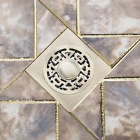 """Bathroom 4"""" Antique Brass Square Stainless Steel Floor Waste Drain For Shower"""