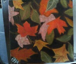 Original Acrylic Painting of Autumn Leaves on Recycled stretched canvas.