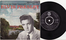 ELVIS PRESLEY - PEACE IN THE VALLEY Ultrarare 1959 Aussie GOSPEL EP Release