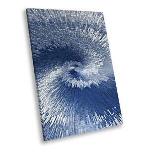 Blue Navy Chic Portrait Abstract Canvas Wall Art Large Picture Prints