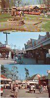 LINCOLN PARK, DARTMOUTH, MA- SET OF 8 -ARCADE,TRAIN,FERRIS WHEEL & MORE-Limited