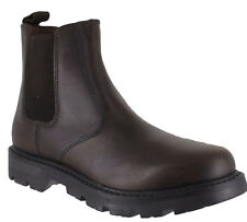 OakTrak Rocksley Boys Kids Brown Leather Dealer Pull On Chelsea Boots
