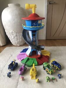 Paw Patrol My Size Look Out Tower & Vehicles and  Pups  Bundle