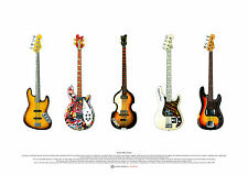 Famous Bass Guitars - ART POSTER A2 size