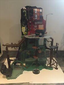 Playmates TMNT Secret Sewer Lair Playset Ninja Turtle - Near Complete