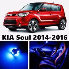 11pcs LED Blue Light Interior Package Kit for KIA Soul 2014-2016