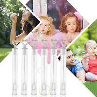 100pcs Bubble Maker Water Bottles Toy Love Heart Sticks Wedding Party Prop