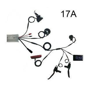 Ebike 36/48V 15A/17A/22A/30A Controller+LCD+Throttle+Brake Lever+PAS+Lights Kit